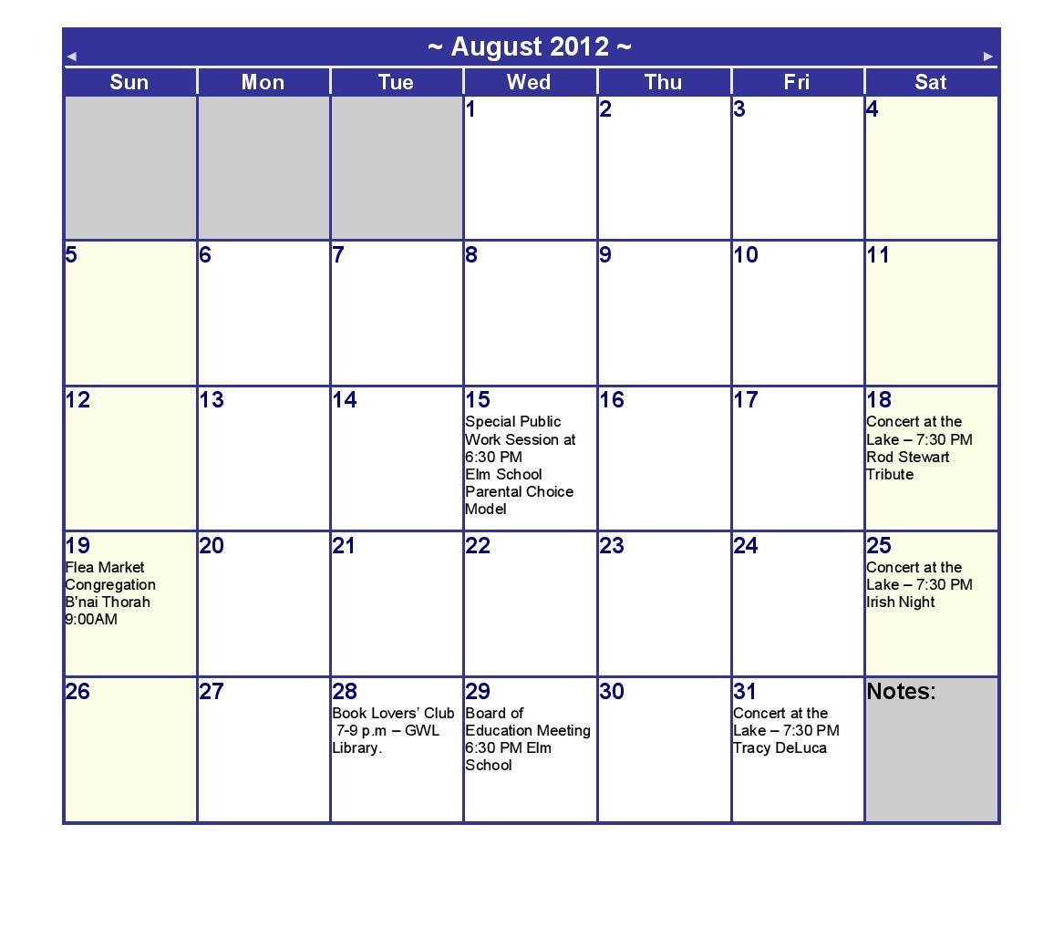 Календарь на 2003 август