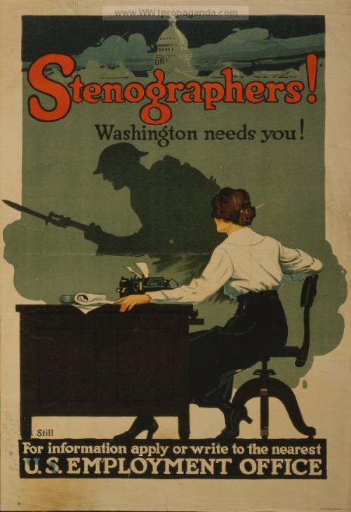 Stenographers! (WWI)