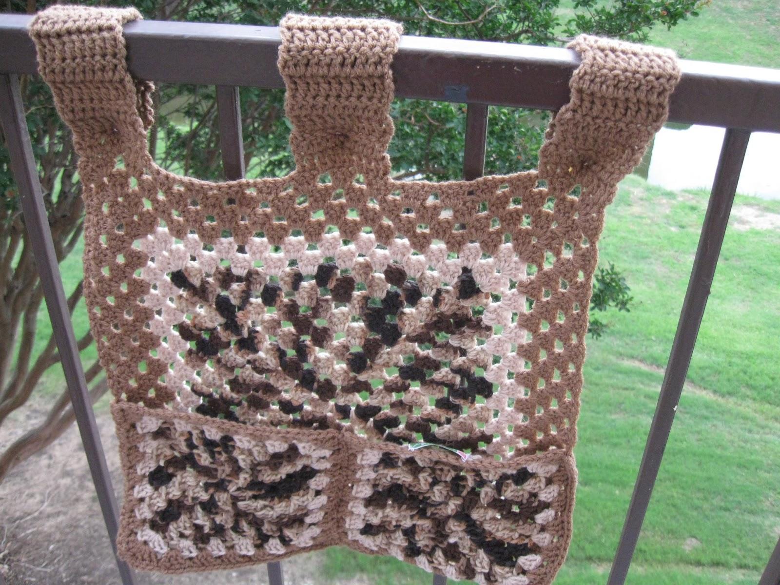 Crafty Lady Sandi: Manly Walker Caddy to Crochet!