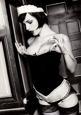 photograph by ellen von unwerth of a corset