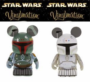 "Star Wars Vinylmation Series 4 by Disney - Boba Fett & ""Prototype"" White Boba Fett Topper Combo Pack"