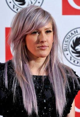 Grey Purple Hair