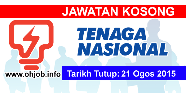 Jawatan Kerja Kosong Tenaga Nasional Berhad (TNB) logo www.ohjob.info ogos 2015