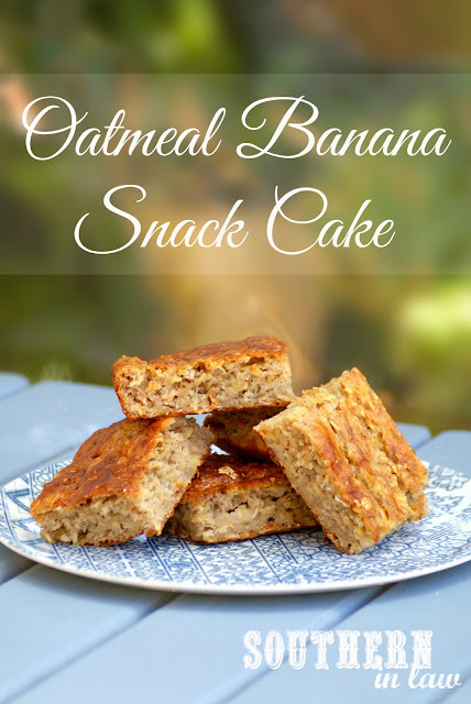 Healthy Oatmeal Banana Snack Cake Recipe with Healthy Cream Cheese Frosting