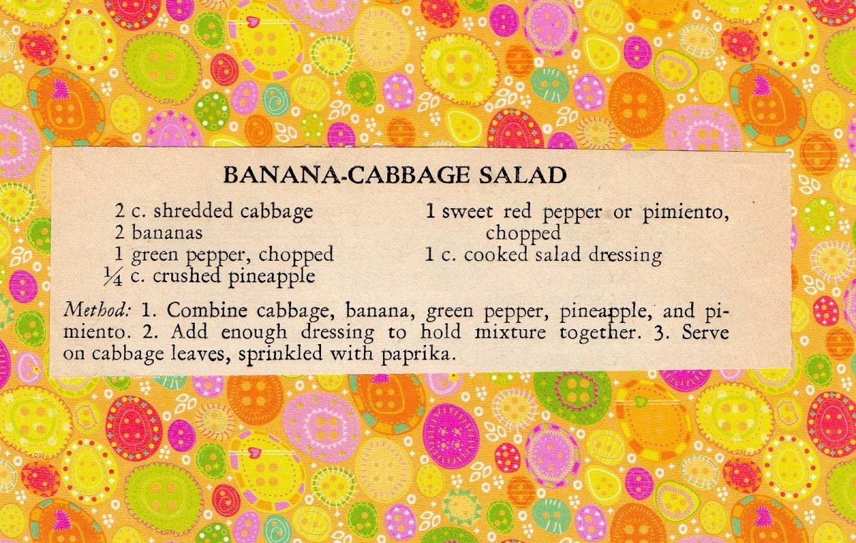 Banana-Cabbage Salad (quick recipe)