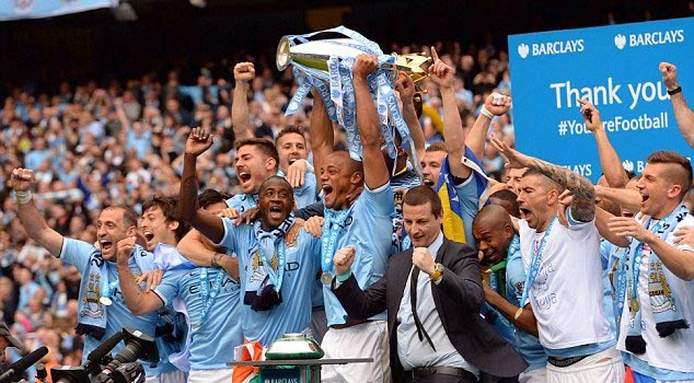 Manchester City Premier League Winners 2014