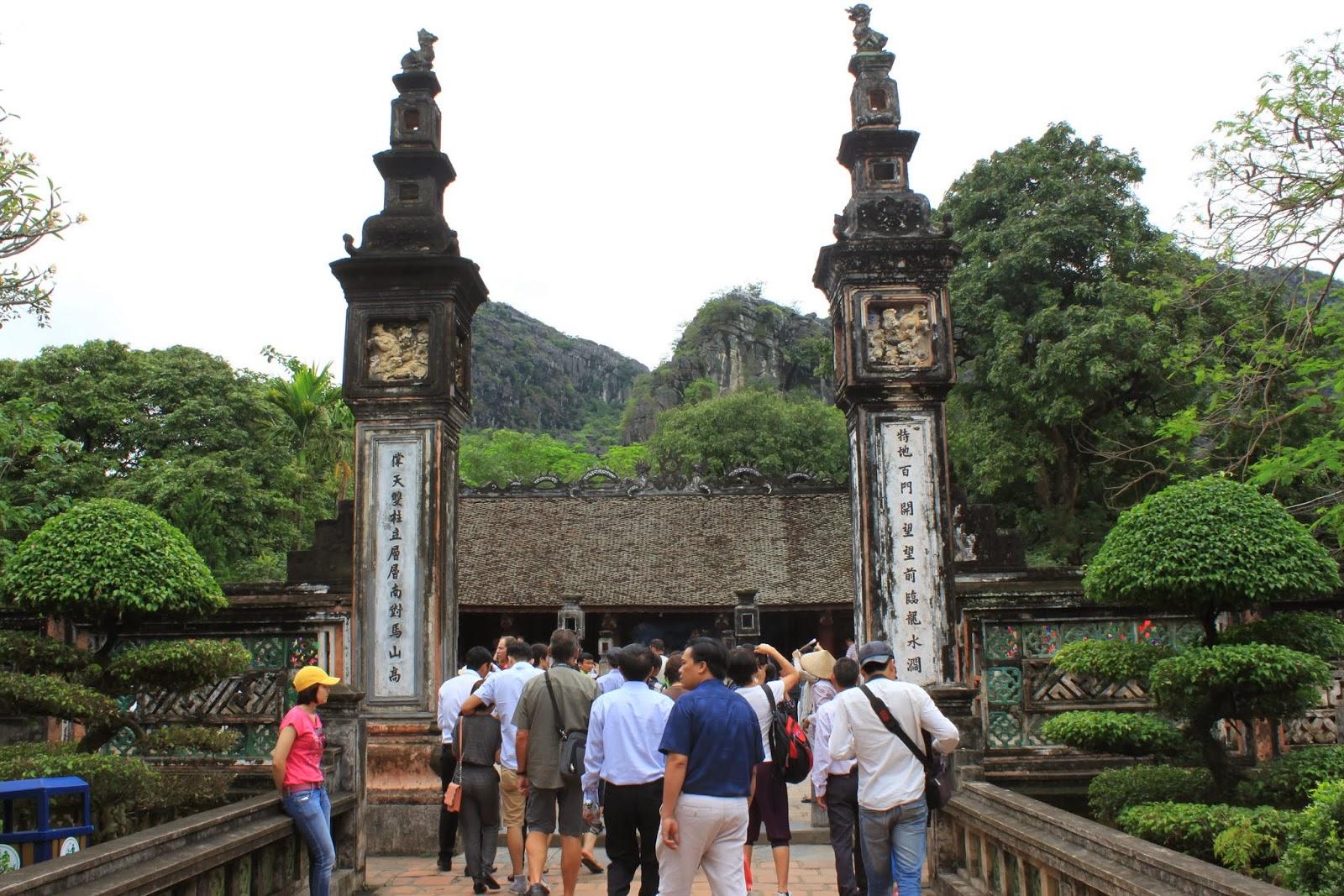 The main entrance of Đinh Tiên Hoàng at Hoa Lu capital in Vietnam
