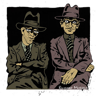 illustration of mobsters
