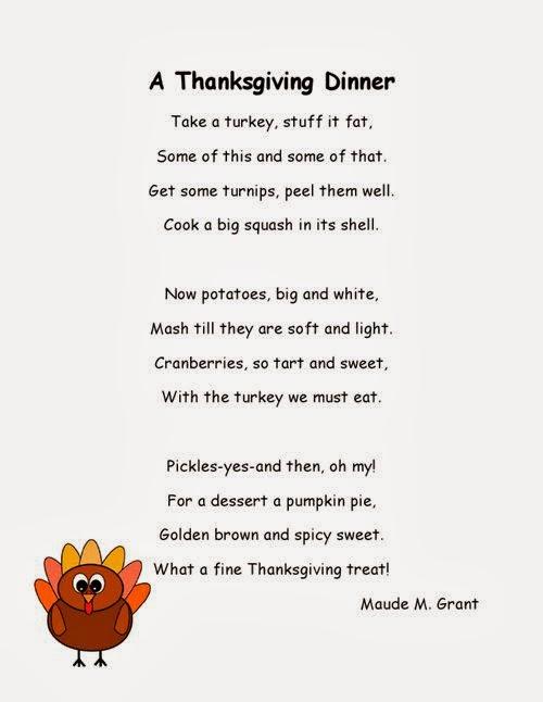 Best Thanksgiving Poems For Kids