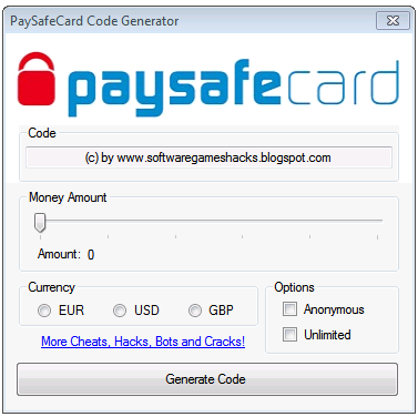 paysafecards code generator