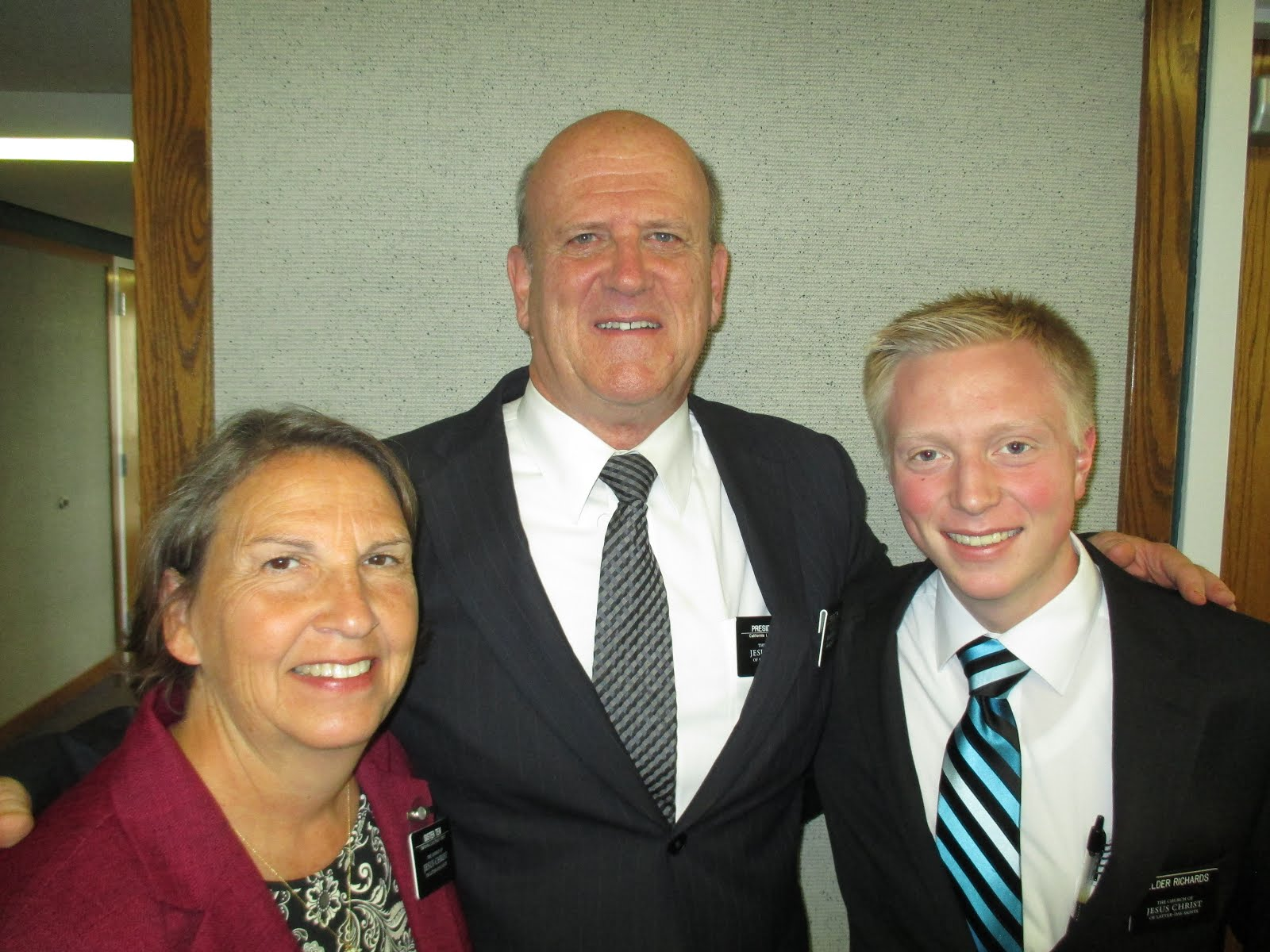 President and Sister Tew with Elder Richards