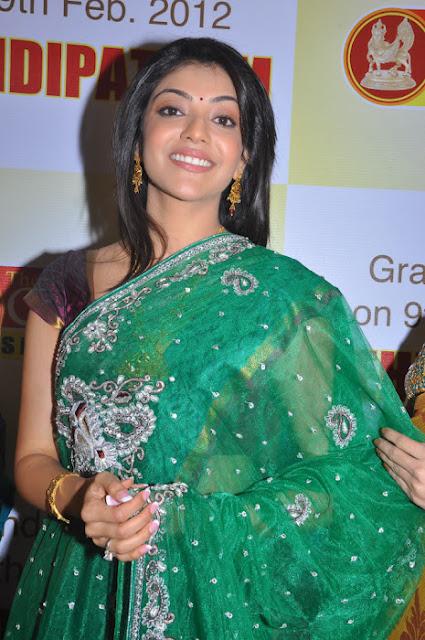 Kajal Agarwal in Silk Saree at Chennai