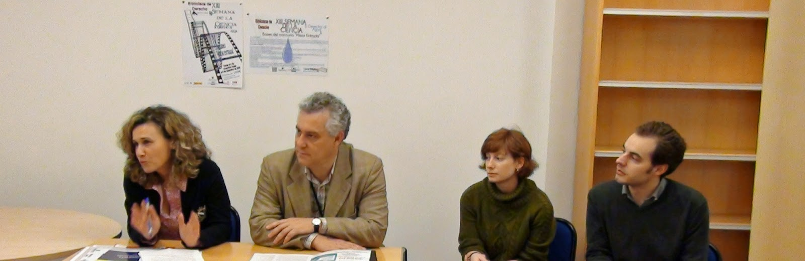 Nieves Martínez, Santiago Fernández, Mariana López y F. J. Valentín