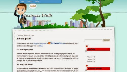 Business Walk - Free Blogger Template