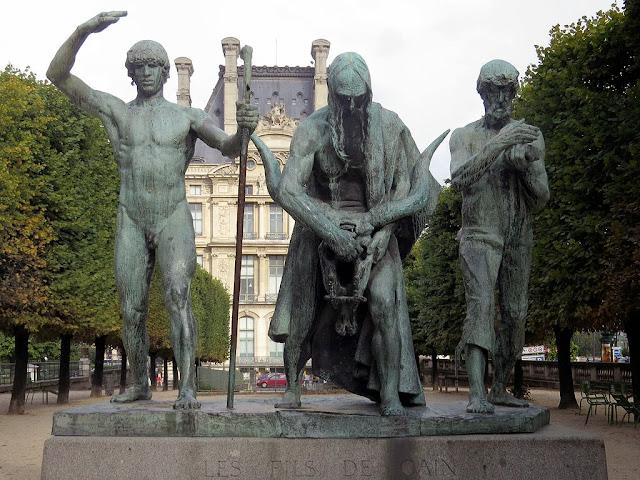 Le fils de Cain, The Sons of Cain by Paul Landowski, Galerie du Bord de l'eau, Tuileries Garden, Paris