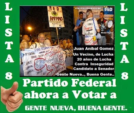 ELECCIONES 2013 - UNA VIDA DE COMPROMISO VECINAL AHORA PARA SENADOR NACIONAL