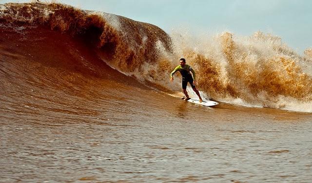 El macareo es ideal para los surfistas