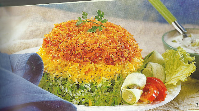 Rainbow Pulao in Microwave