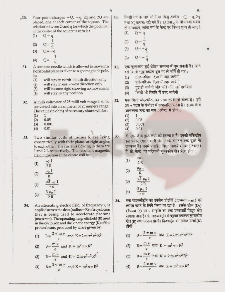 AIPMT 2012 Exam Question Paper Page 9