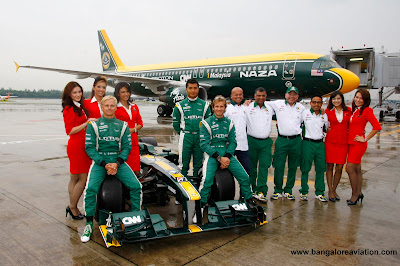 AirAsia A320-216 9M-AFY in Team Lotus livery