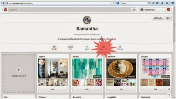 Pinterest Profile // sammiellers