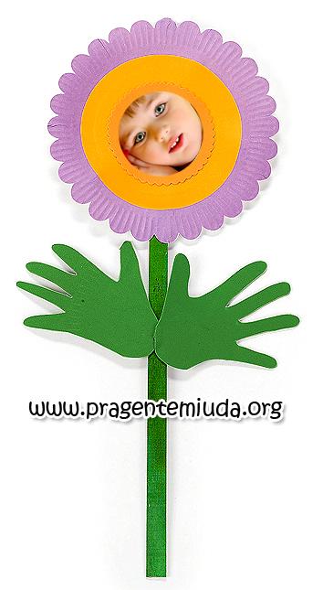 flor para primavera com pratinhos de papel