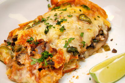 Grilled Mushroom and Vegetable Enchiladas | www.kettlercuisine.com