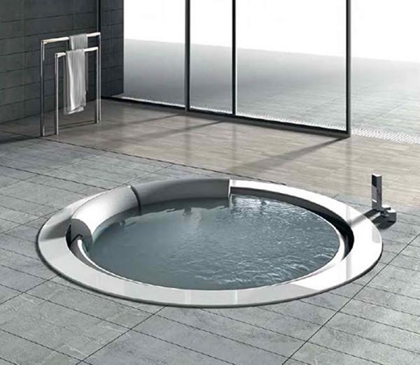 Bañera de Hidromasaje única de forma Redonda  Baños y Muebles