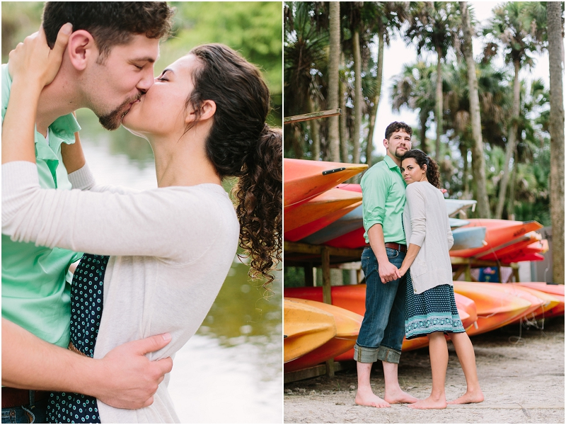 jupiter florida rustic engagement photo