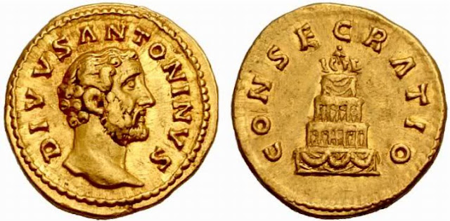 Moneda de oro y antigua Roma