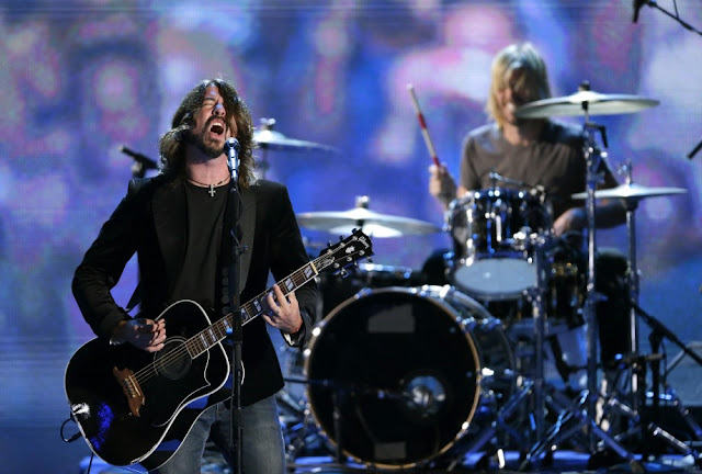 Foo Fighters perform Thursday at the Democratic National Convention.