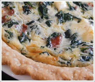 Spinach, Bacon and Swiss Quiche