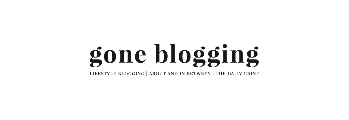 Gone blogging
