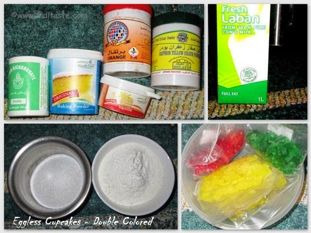 Eggless Cupcakes - Ingredients