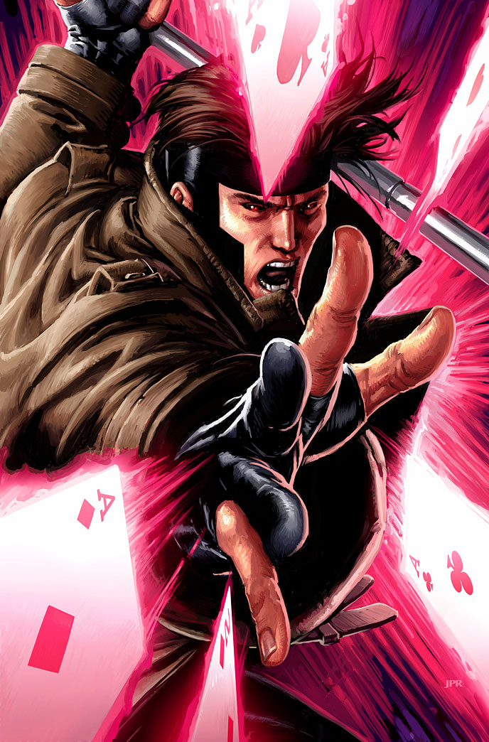 Gambit Comic Art Next week's topic: gambit