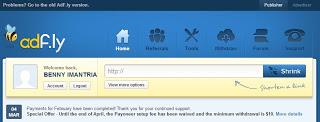 Cara Mendaftar dan Mendapatkan Uang di Adf.ly