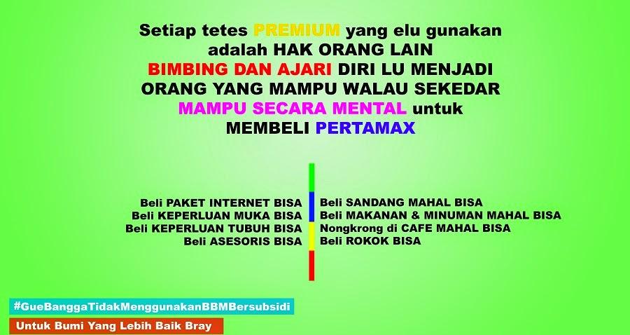 BBM Bersubsidi dan Pertamax 2014 Indonesia