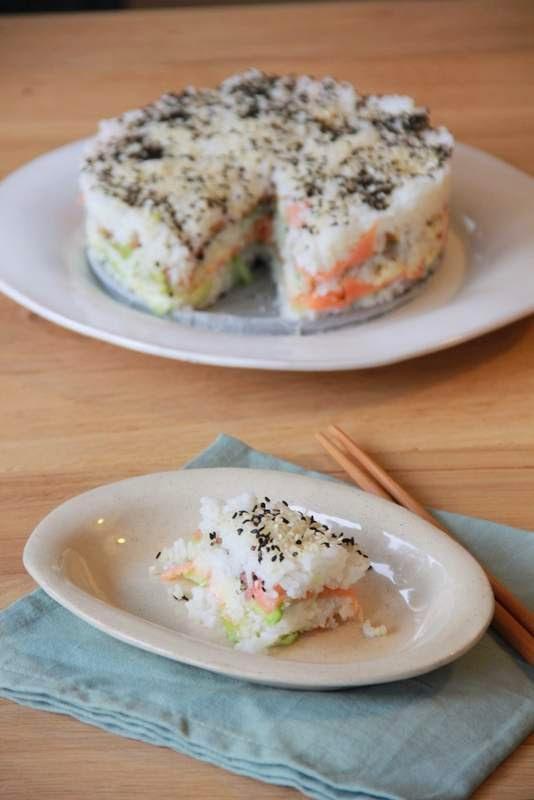 sushi taart - www.desmaakvancecile.com