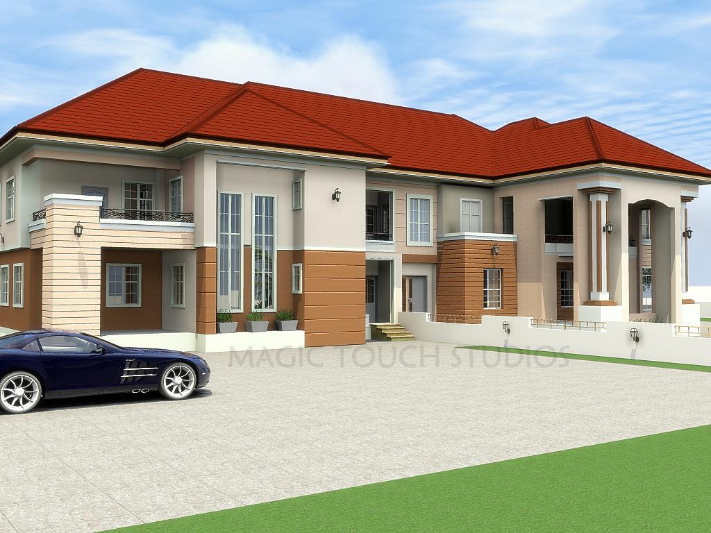 4 bedroom duplex with an 3 bedroom attached block of flats for Three bedroom duplex