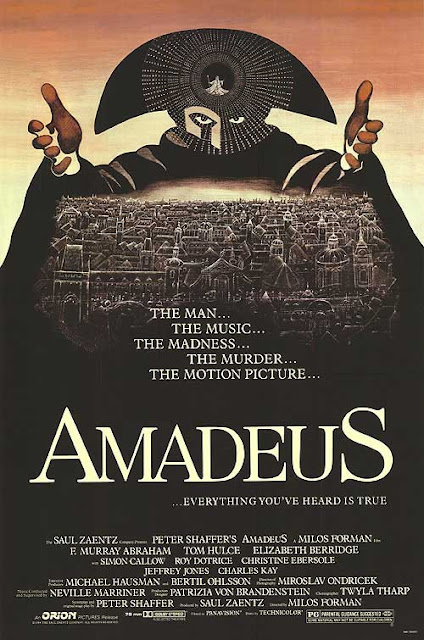 Amadeus Poster, 1984 musical, Directed  by Milos Forman