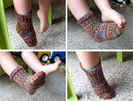 Creating A Family Home Free Knitting Pattern Raindrop Socks