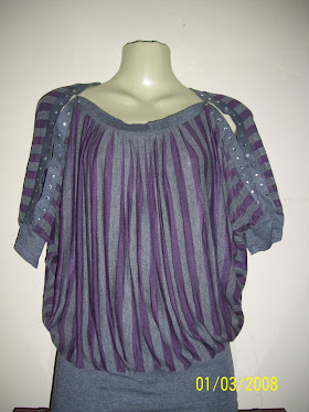 Blouse Jalur Purple - FR 01