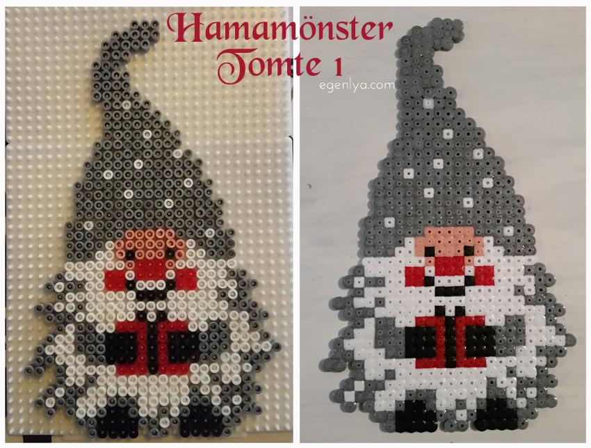 pärlplattor mönster jul