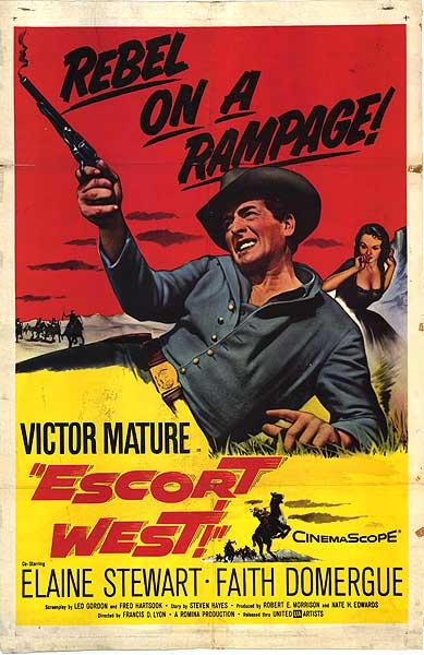 EscortWestPoster Victor Mature Image