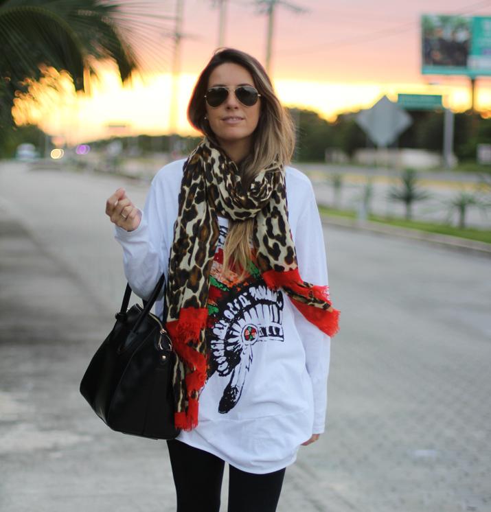 Animal print blogger