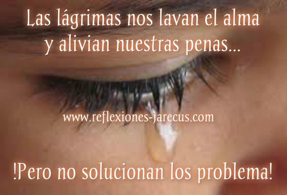Las lágrimas nos lavan el alma y alivian nuestras penas