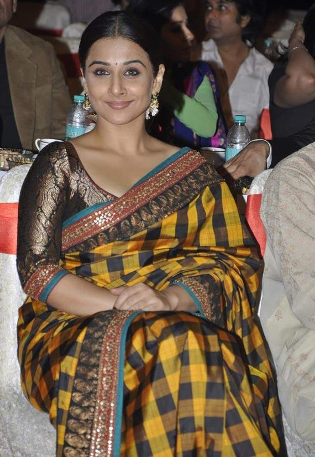 Bollywood Actress Vidya Balan Silk Saree Photos