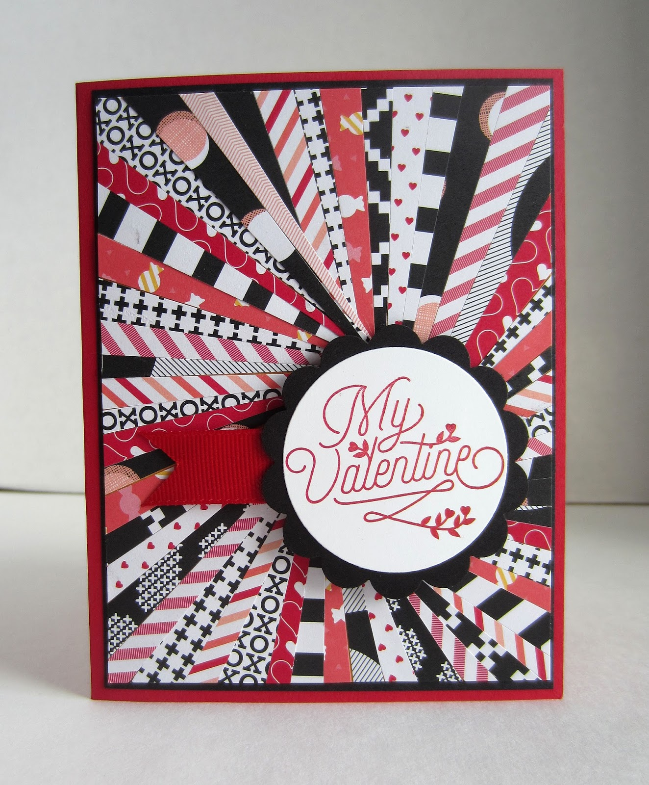 DIY Homemade Paper Valentine Card