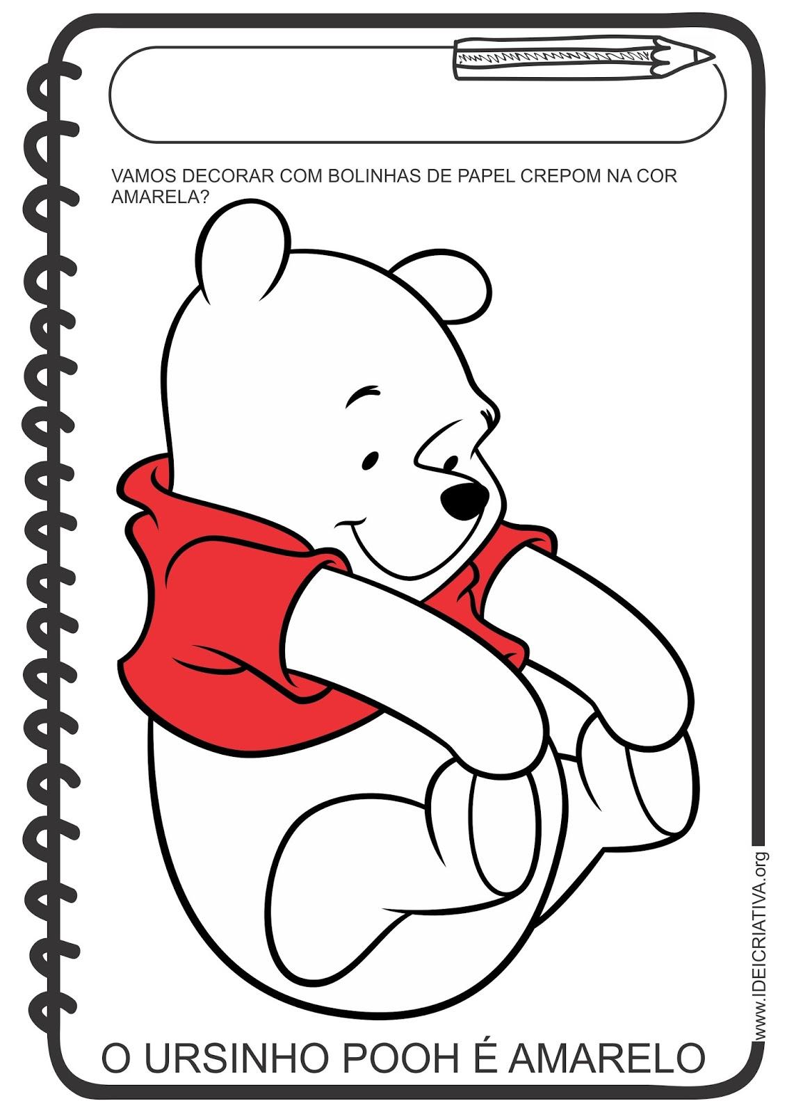 Atividade cores Ursinho Pooh
