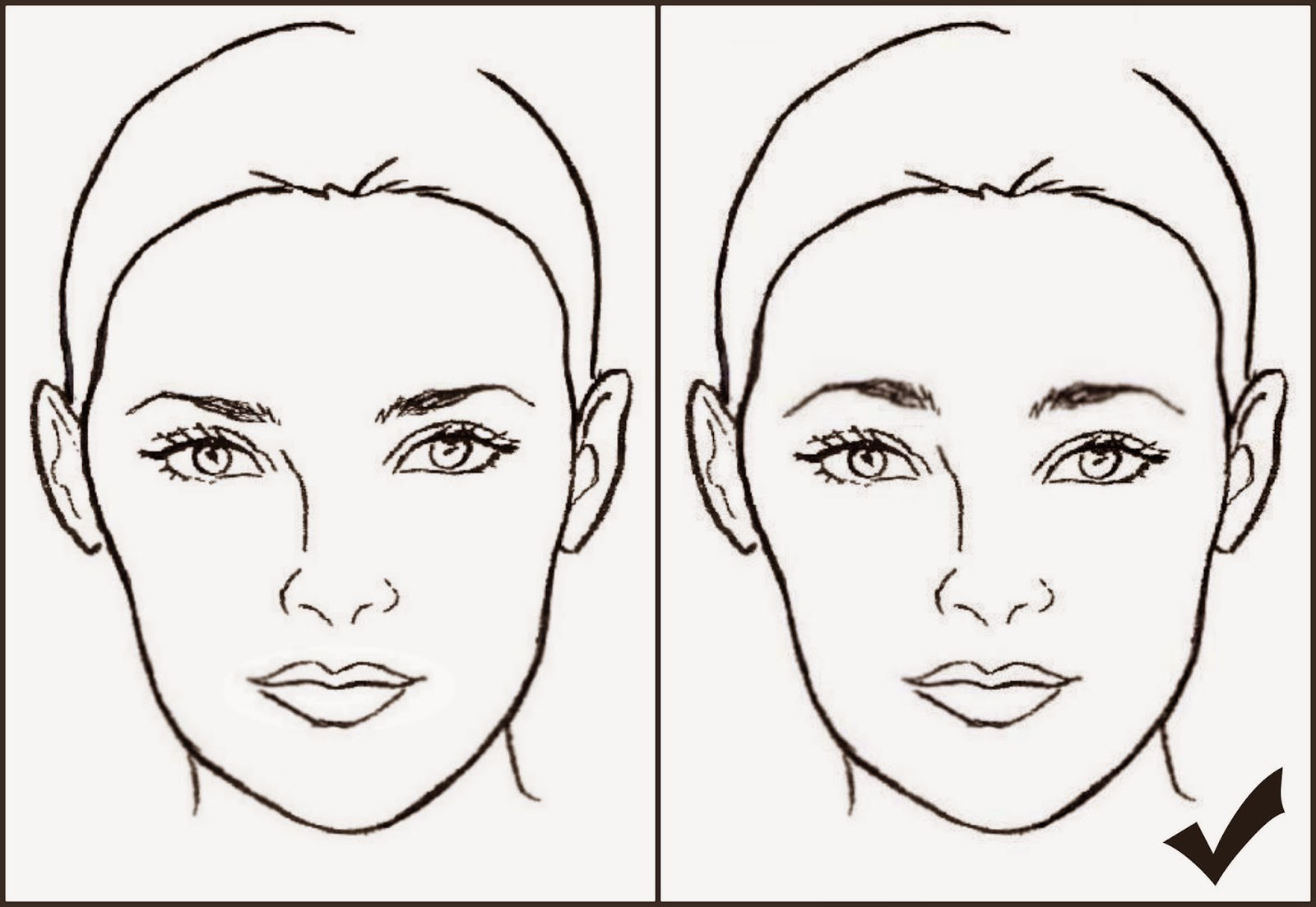 Tips For Makeup And Beauty Face Shapes And Eyebrows